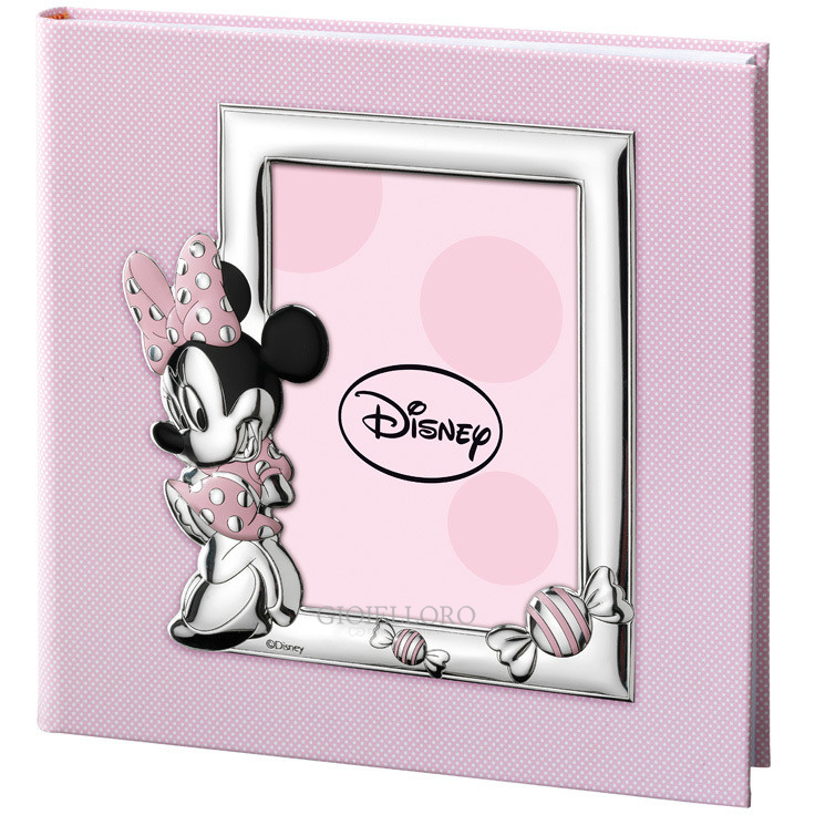 ALBUM PORTAFOTO CON INSERTO IN ARGENTO MINNIE MOUSE 20X25 CM