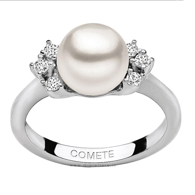 Anello Comete Gioielli LE PERLE con diamanti e perla ANP336