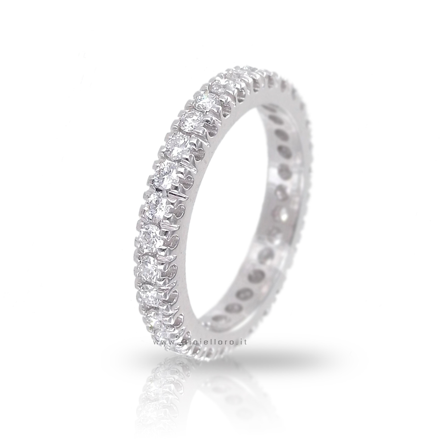 Anello Fede Eternity Marilyn Collection diamanti ct 0.77 G VS