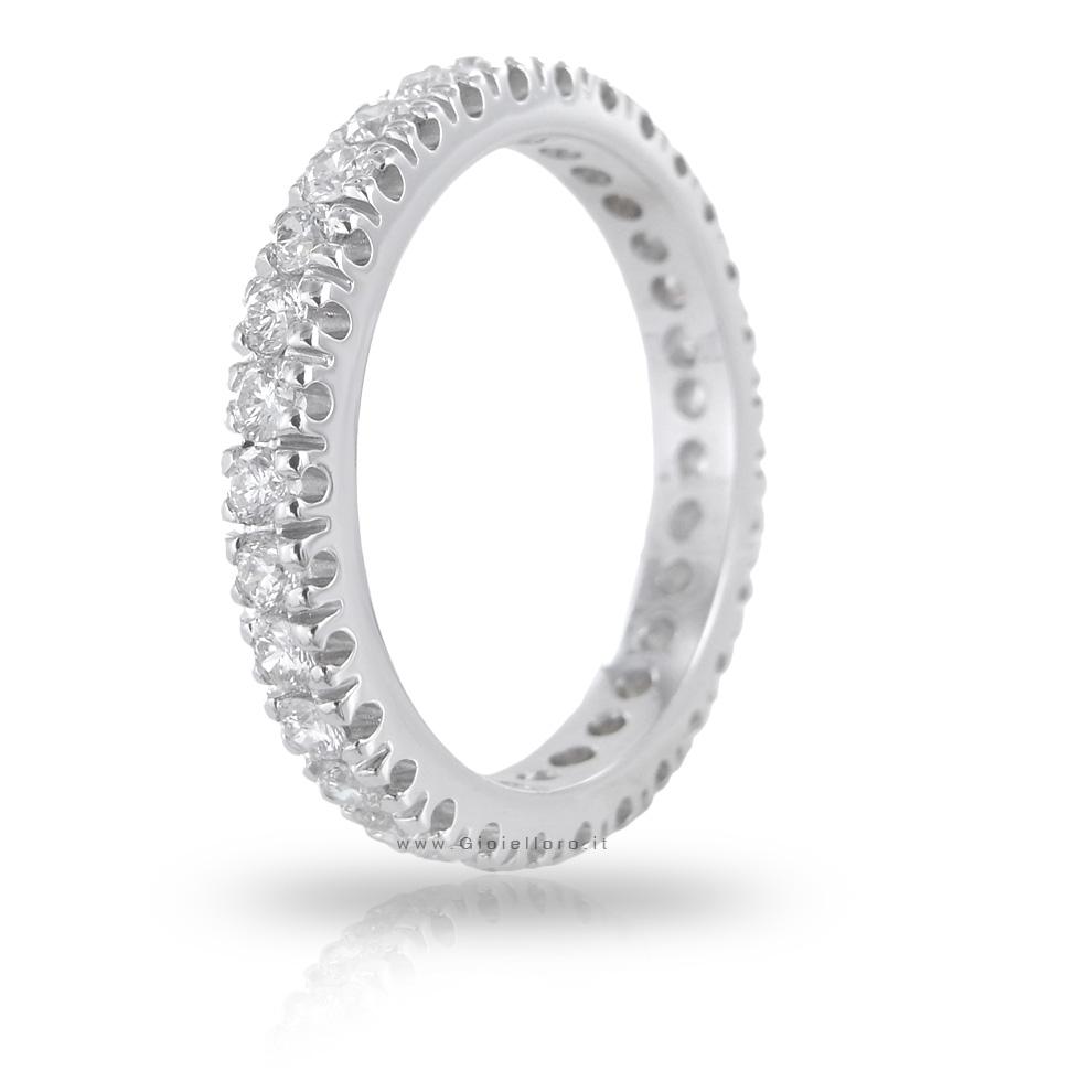 Anello Fede Eternity in oro e diamanti ct 1.03 G VS