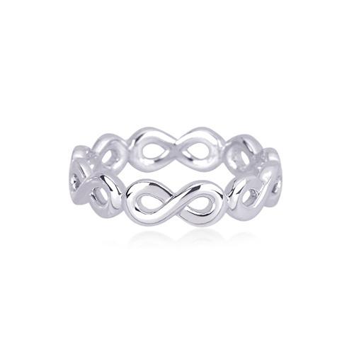 Anello Infinito in argento - misura 13