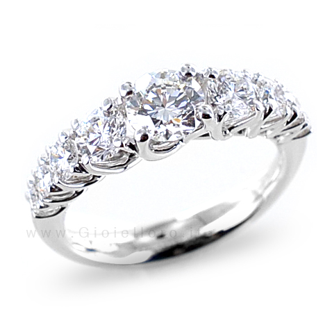 Anello Riviera in oro e Diamanti Dluce collezione Grace COLORE E