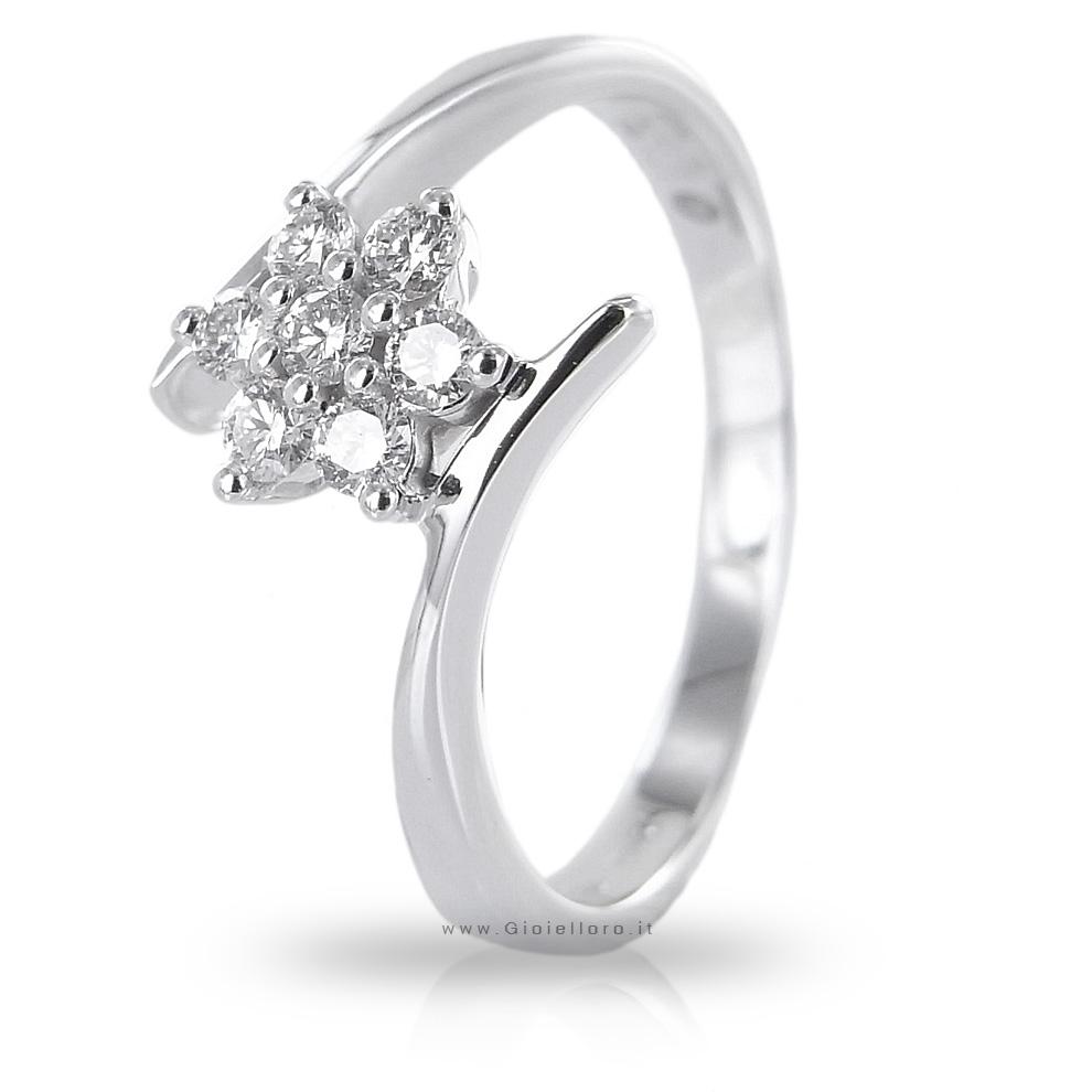 Anello Stella con Diamanti per carati 0.13 G Gioielli Valenza