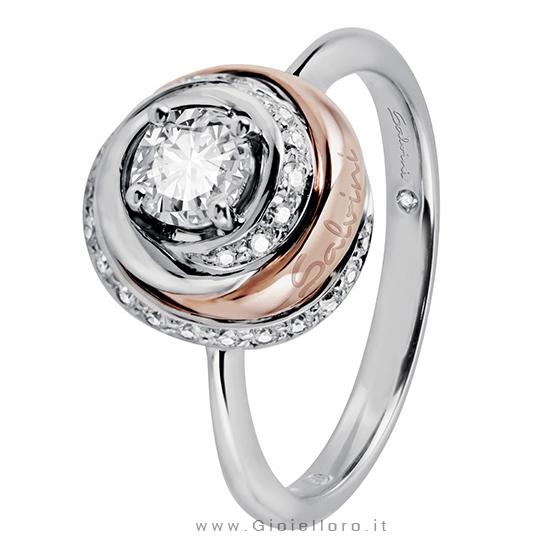 Anello Salvini collezione Charade Solitario in oro e Diamanti ct 0.35 G