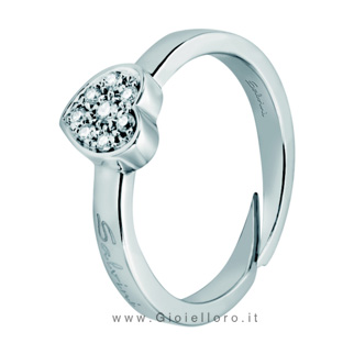 Anello Salvini con diamanti collezione Be Happy modello Cuore 20055775