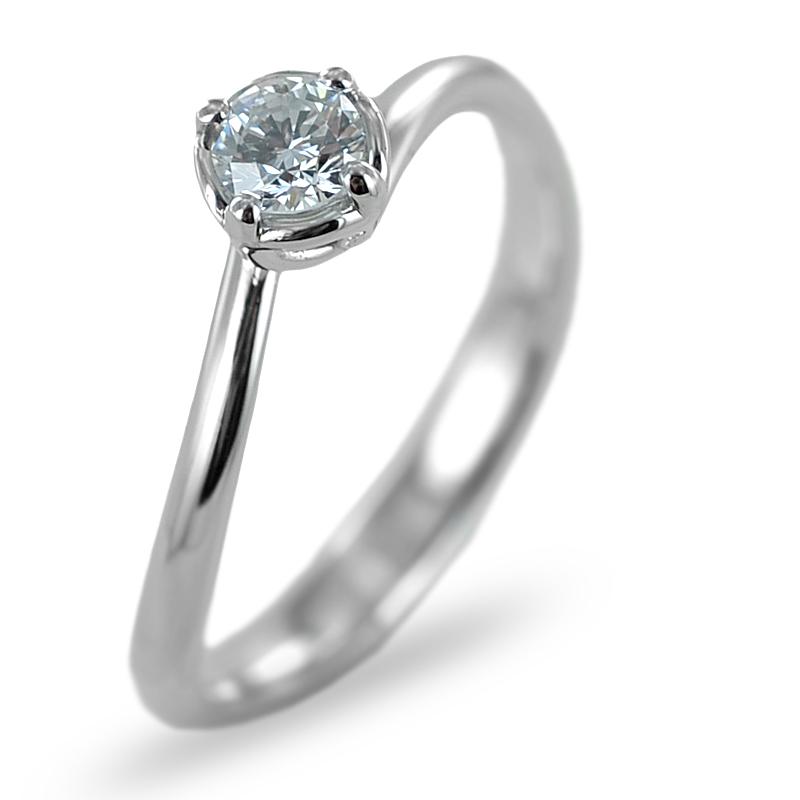 Anello Solitario in oro con diamante 0.24 G VS