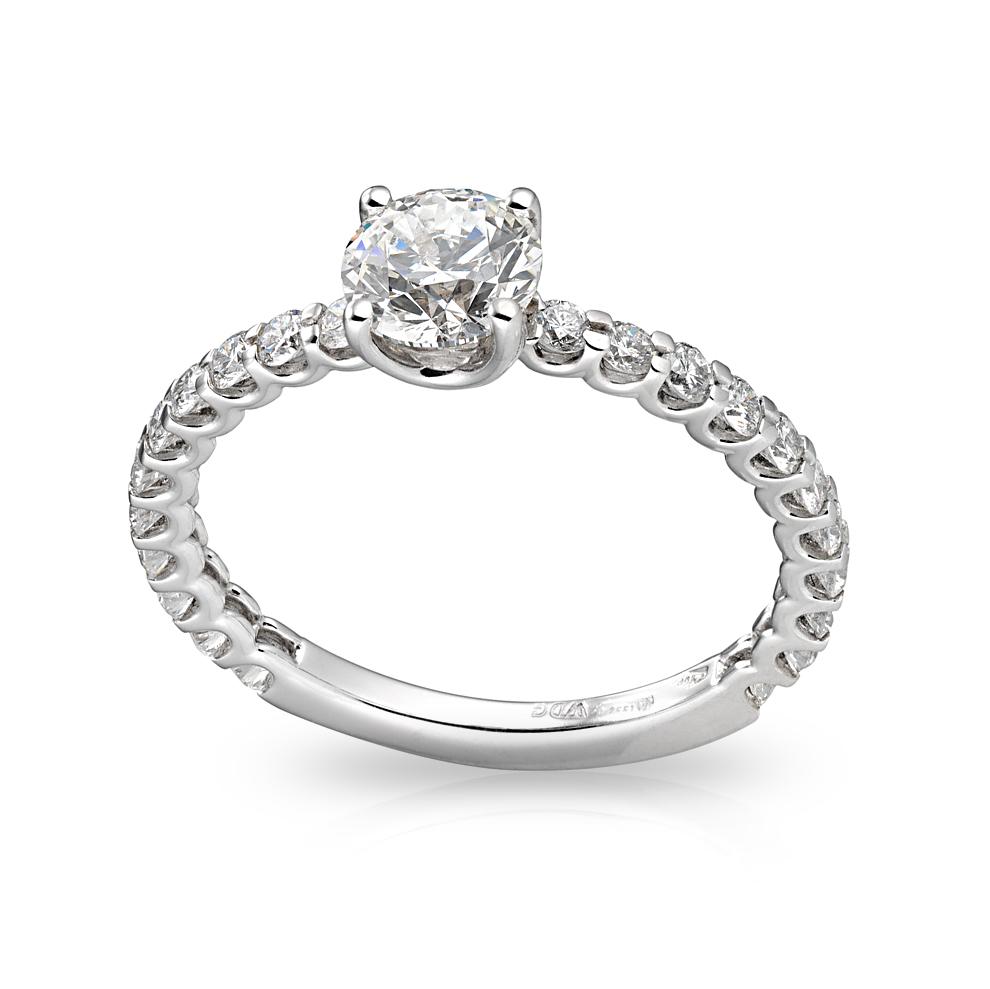 Anello Solitario in oro e Diamanti Dluce collezione KIng
