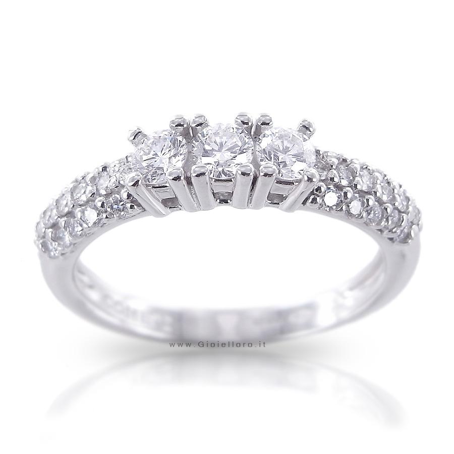 Anello Trilogy Comete Gioielli Lovelight con diamanti ANB1579 ct. 0.60