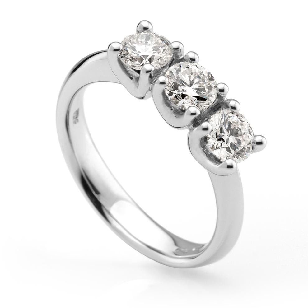 Anello Trilogy in oro e Diamanti Dluce collezione Pura