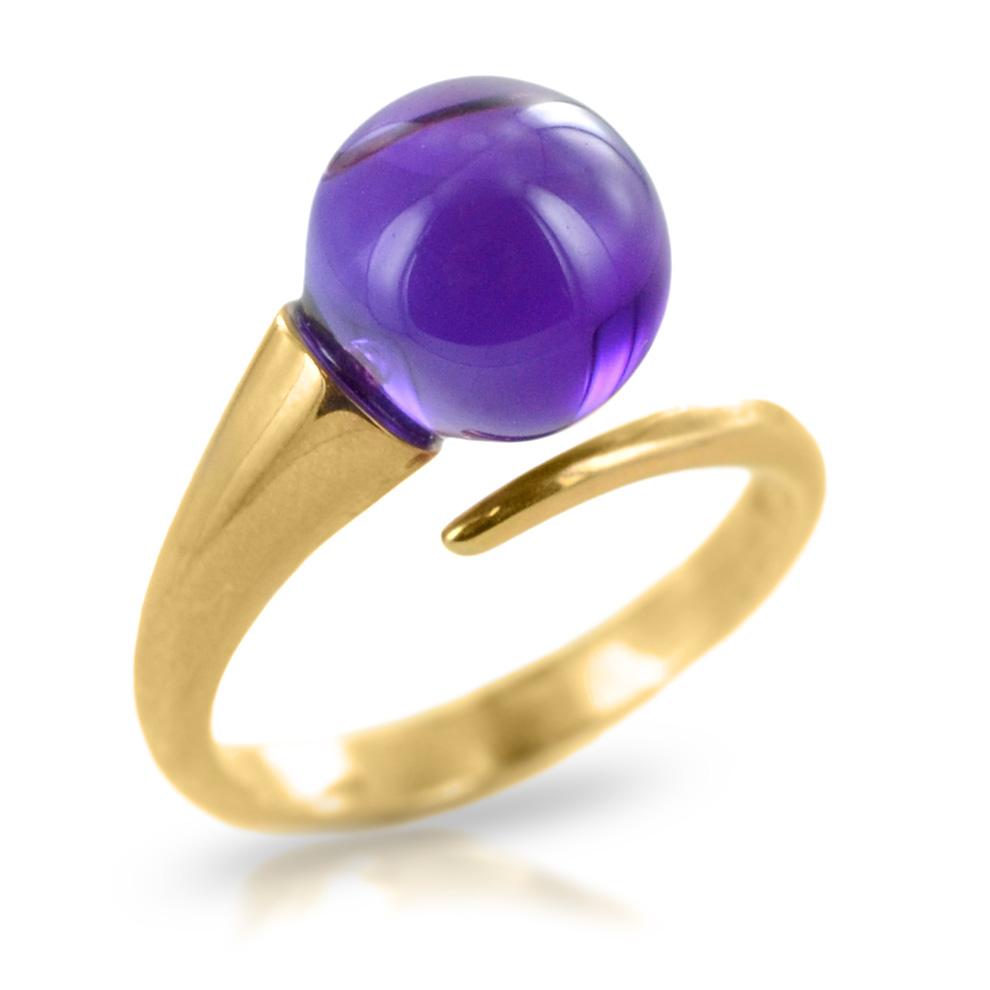 Anello Unoaerre in oro 9kt con pietra Viola