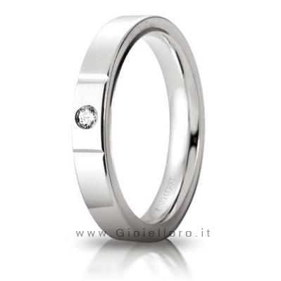 Anello cerchio di luce in oro bianco 18kt e diamante 0.5ct mis. 11