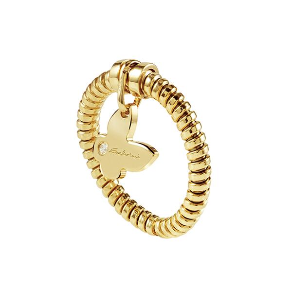 Anello con ciondolo farfalla Salvini in oro giallo e diamante MINIMAL POP