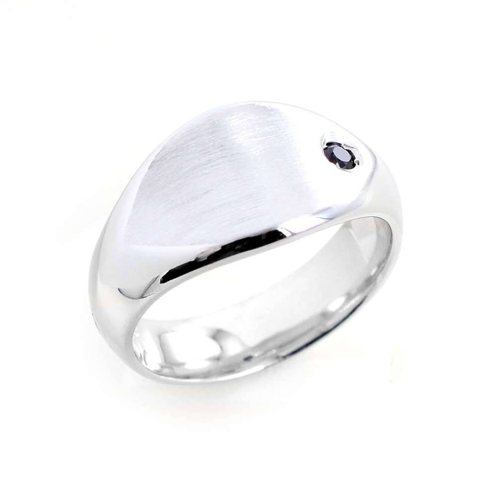 1cefe36c06 Anello da uomo in argento con zircone nero Orsini Gioielli ...