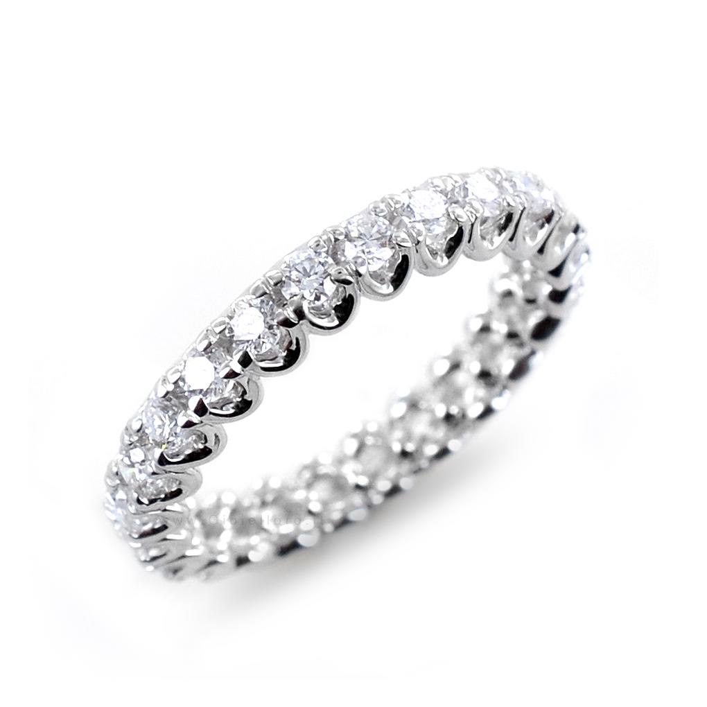 Anello fede Eternity in oro e Diamanti Dluce