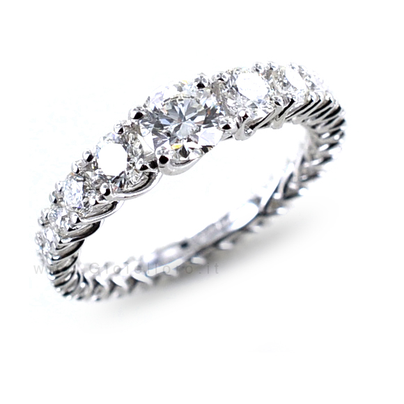 Anello fede Eternity in oro e Diamanti Dluce collezione Grace