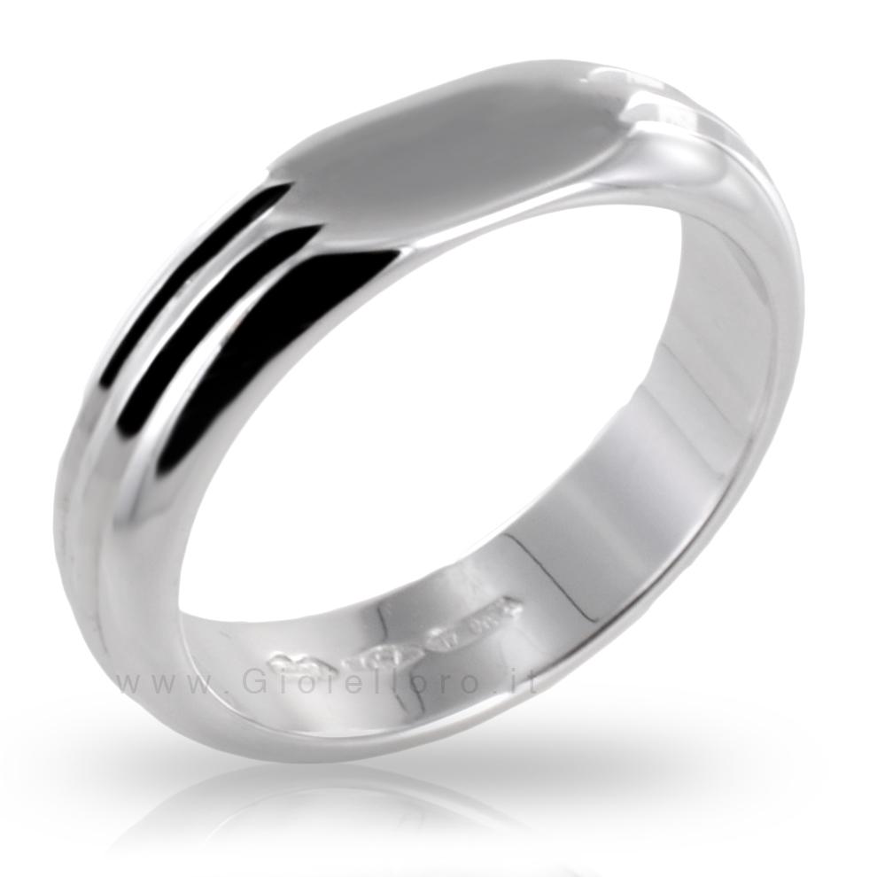 Anello in oro bianco da mignolo - anello Chevalier