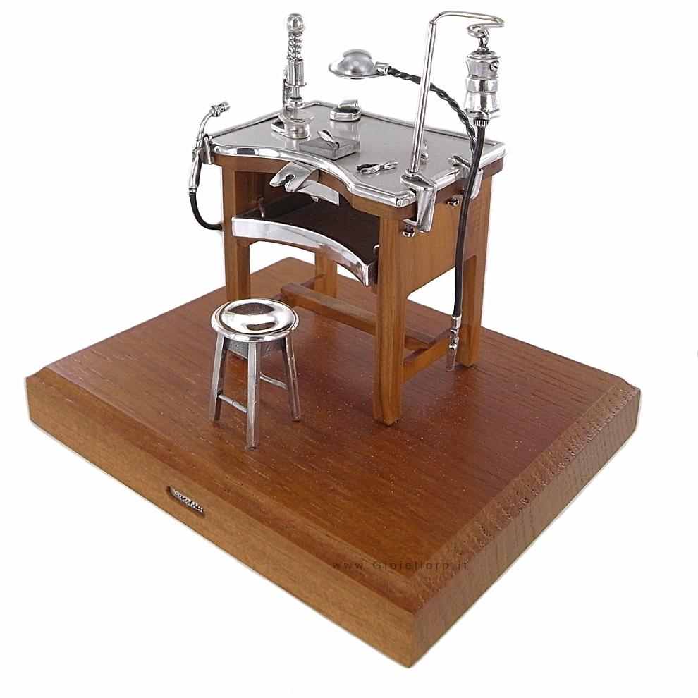 Banco orafo piccolo in argento 925/000 e legno