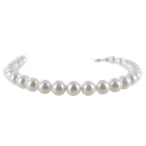 Bracciale Filo di perle Freshwater 6.0-6.5 mm AA con chiusura in oro