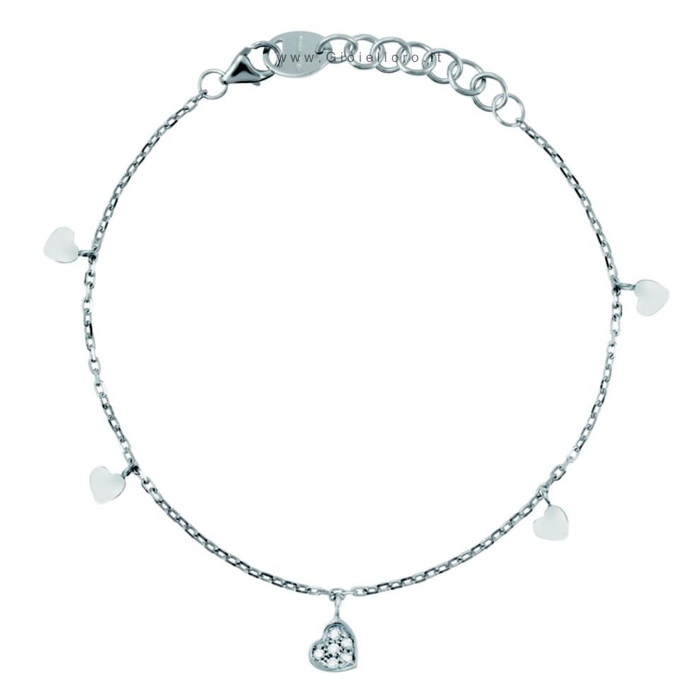 Bracciale Salvini con diamanti collezione Be Happy modello Cuore 20055769