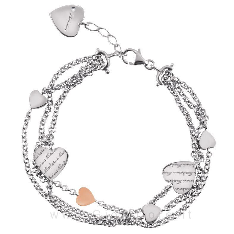 fashion style Super carino prezzo interessante Bracciale Salvini in argento con diamante - Just a Heart ...