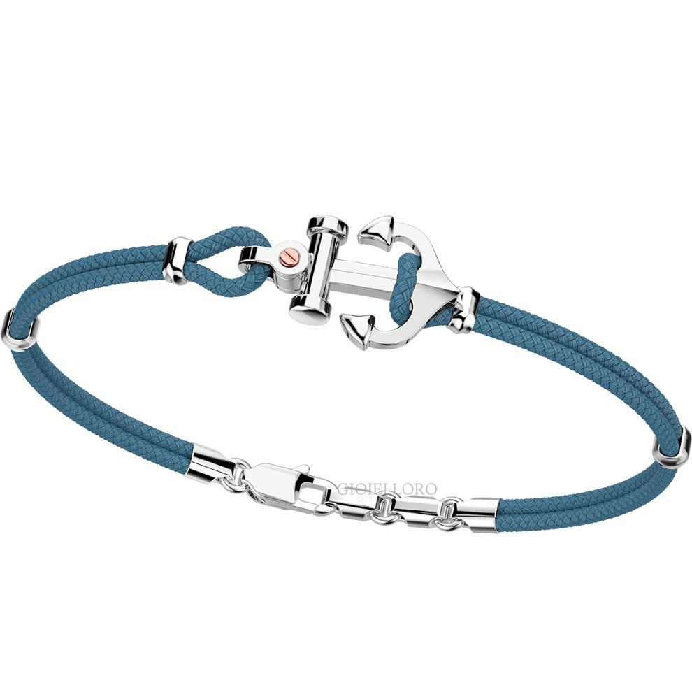 Bracciale Zancan da uomo in argento e corda nautica EXB 619R-AV