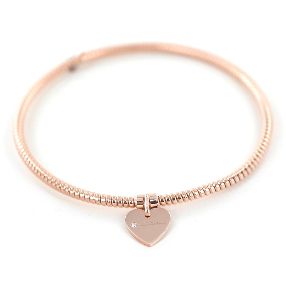 Bracciale con ciondolo cuore Salvini in oro rosa e diamante MINIMAL POP 20070059