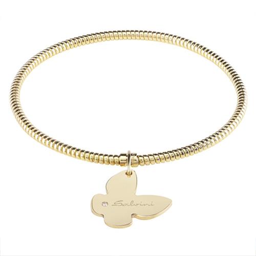Bracciale con ciondolo farfalla Salvini in oro giallo e diamante MINIMAL POP EXT