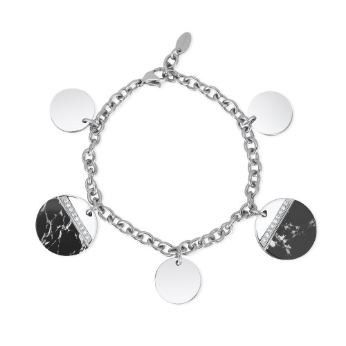 Bracciale donna 2Jewels VERMONT in acciaio con cristalli e aulite
