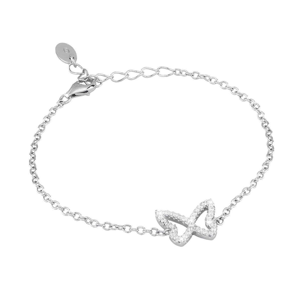 Bracciale in argento Farfalla con zirconi