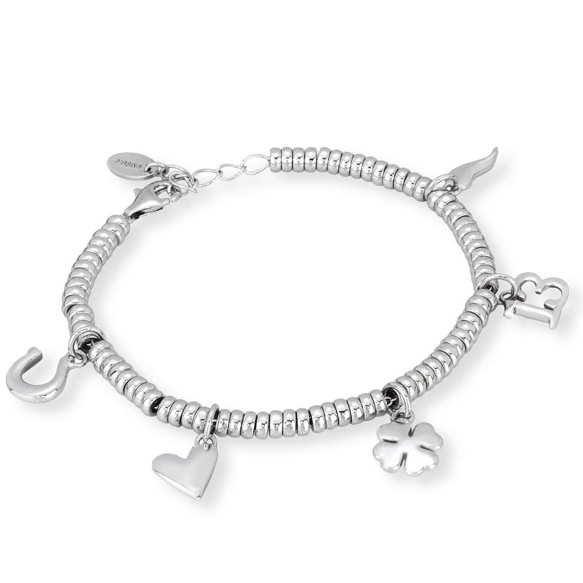 Assez Bracciale in argento con charms porta fortuna | Gioielloro.it - La  GR89