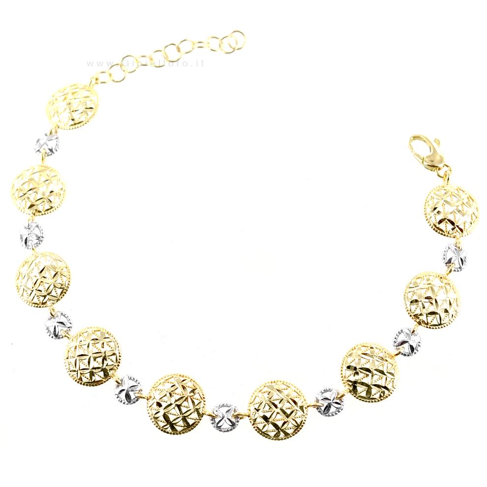 Bracciale in oro bianco e giallo Lorenzo Ungari