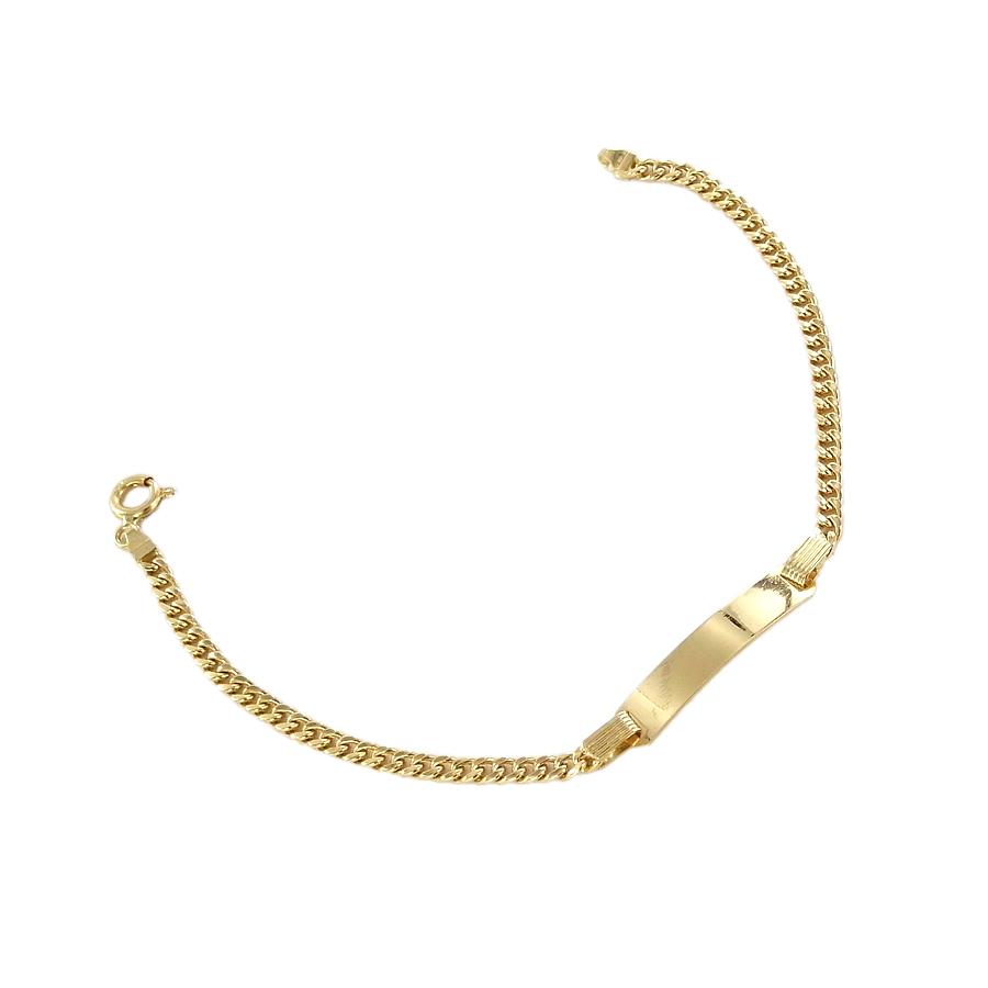 Bracciale in oro giallo 18 kt con targhetta