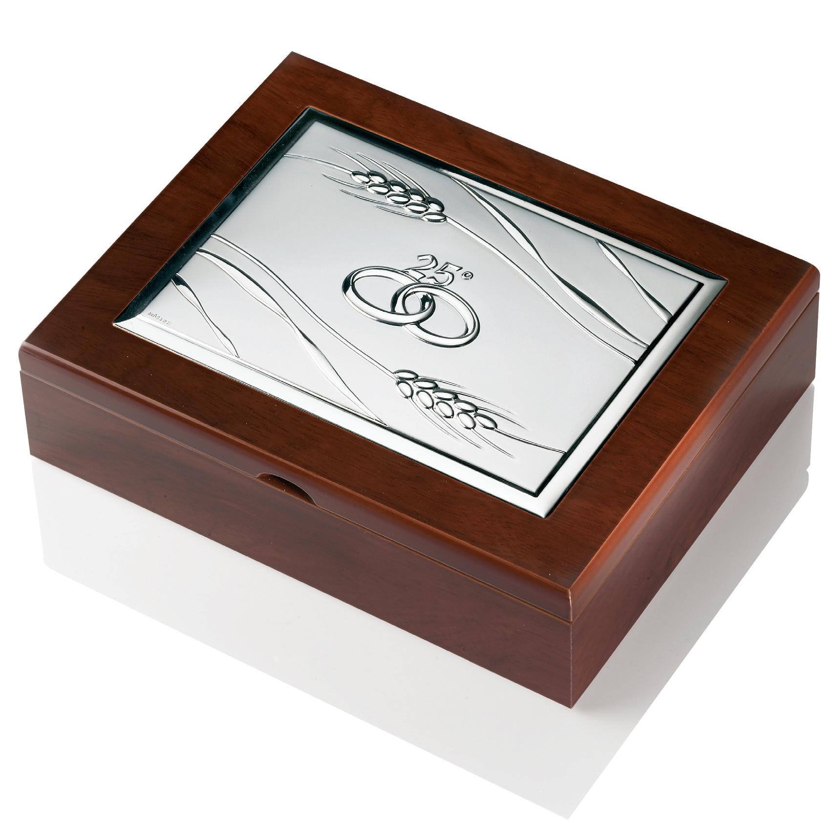 Good cofanetto nozze d argento x cm with regalo per 25 for Regali per 25 anni di matrimonio