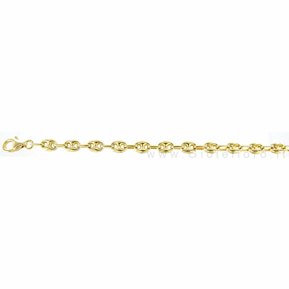 Catena in oro giallo 18 kt maglia marina da Uomo - 60 cm