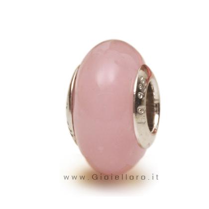 Charm componibile PerlAmore Murano Beads in argento e vetro ALABASTRO ROSA
