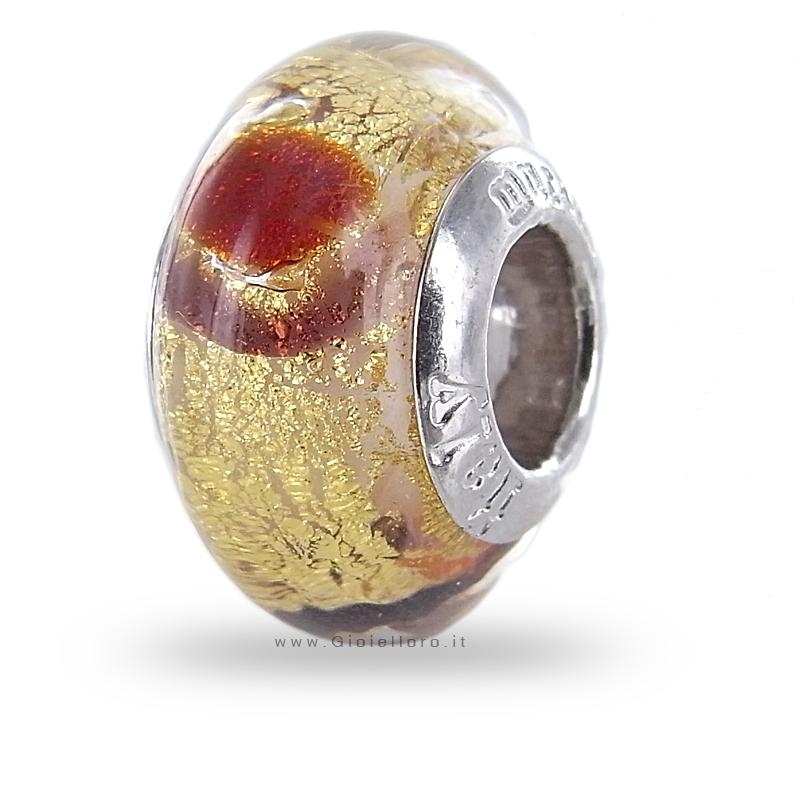 Charm componibile PerlAmore Murano Beads in argento e vetro Murano