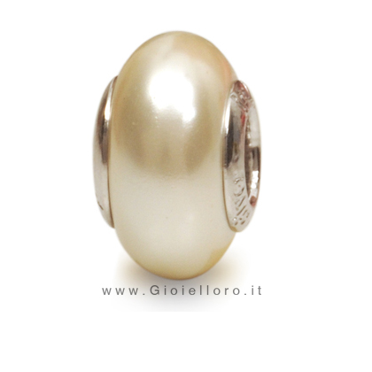 Charm componibile PerlAmore Murano Beads in argento e vetro PEARL KULTRA