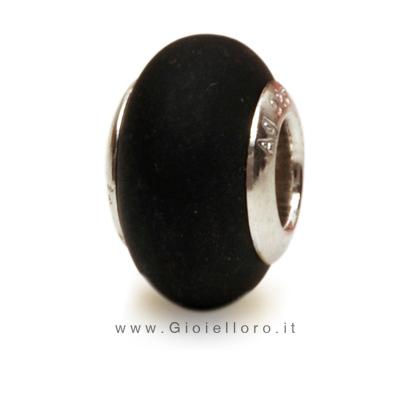 Charm componibile PerlAmore Murano Beads in argento e vetro SATIN BLACK