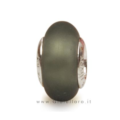 Charm componibile PerlAmore Murano Beads in argento e vetro SI SAT. B. DIAMOND
