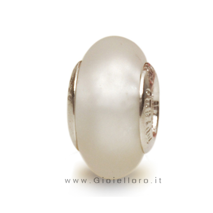 Charm componibile PerlAmore Murano Beads in argento e vetro SI SATIN CRYSTAL