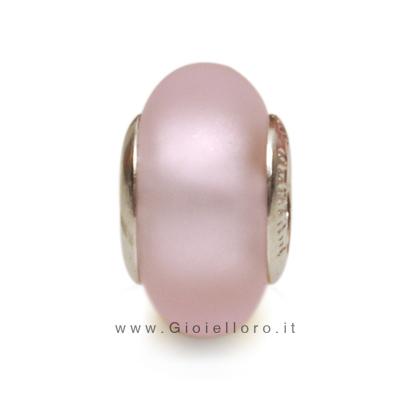 Charm componibile PerlAmore Murano Beads in argento e vetro SI SATIN ROSA