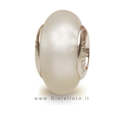 Charm componibile PerlAmore Murano Beads in argento e vetro WHITE