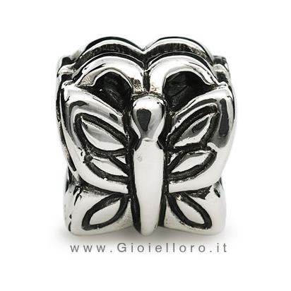 Charm componibile PerlAmore Silver Beads in argento Farfalla