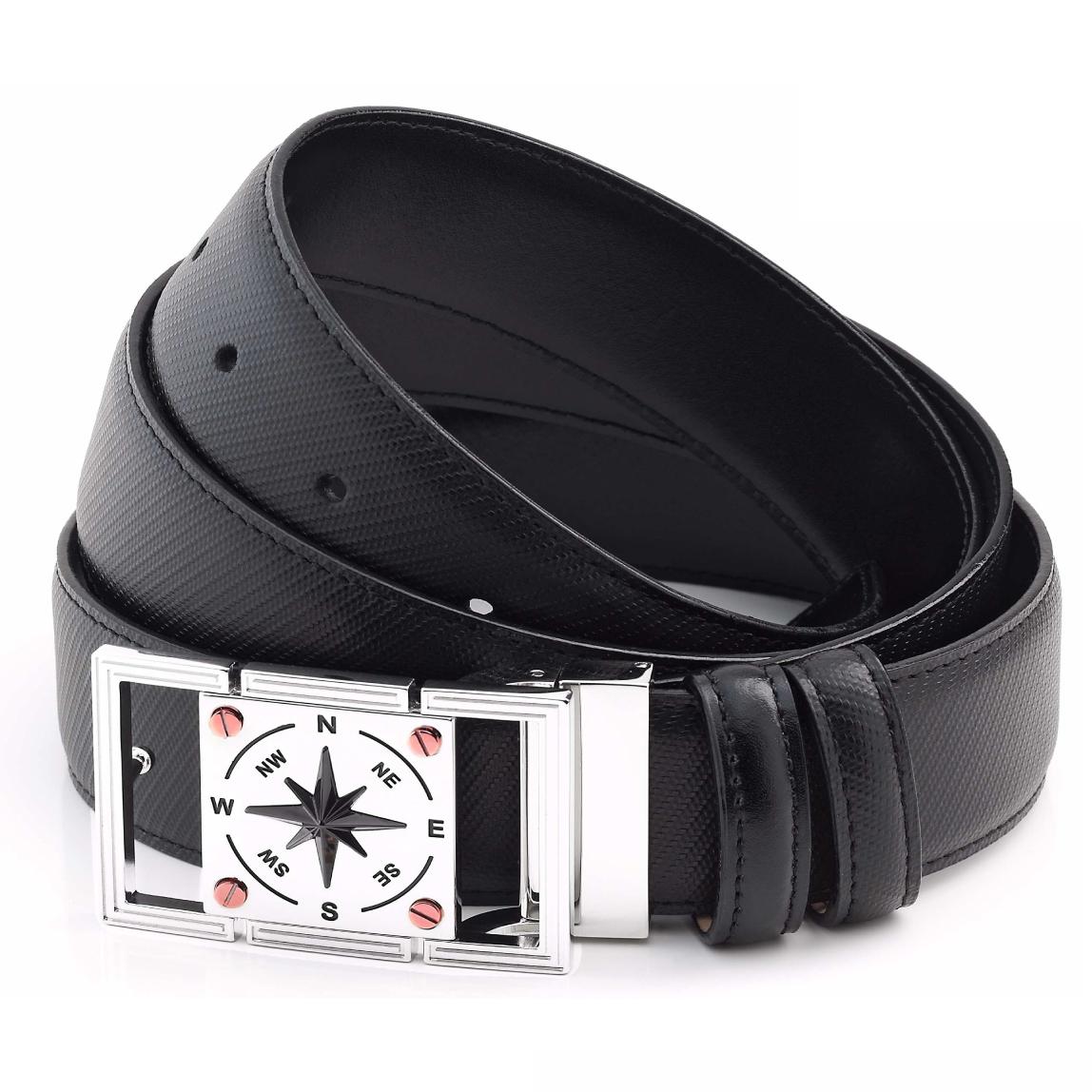 Cintura in pelle da uomo Zancan - chiusura in acciaio