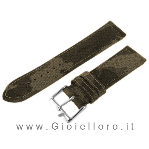 Cinturino Morellato Tessuto Panama militare Ansa 20 mm