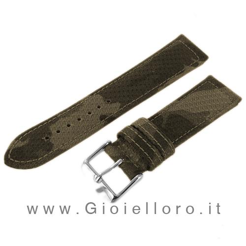 Cinturino Morellato Tessuto Panama militare Ansa 24 mm