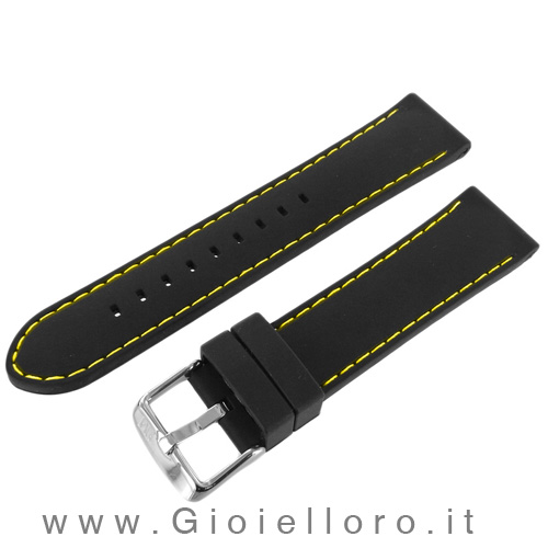 Cinturino Morellato in silicone con cuciture bianche Ansa 20 mm