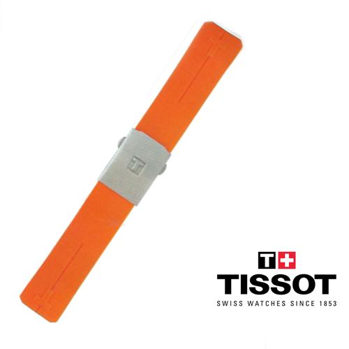 Cinturino di ricambio Arancio per Tissot T-Touch Expert e T-Touch II caucciù con chiusura