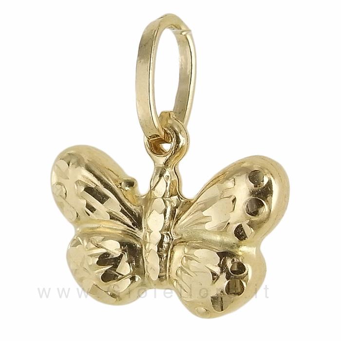 Ciondolo Farfalla in oro giallo 18 kt