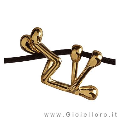 Ciondolo Pensieri Felici in oro giallo G1004-GL